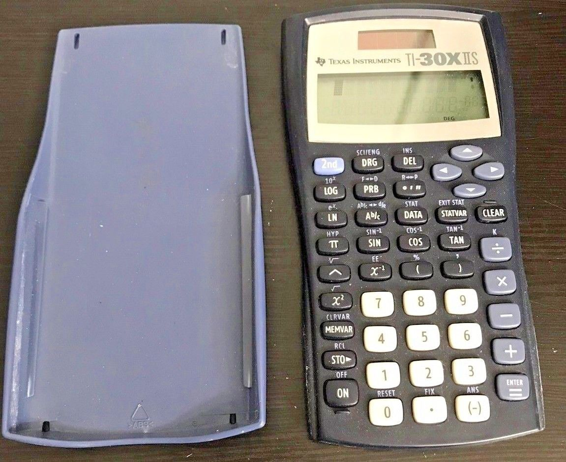 Texas Instruments Ti-30x IIS Scientific Solar Calculator Blue