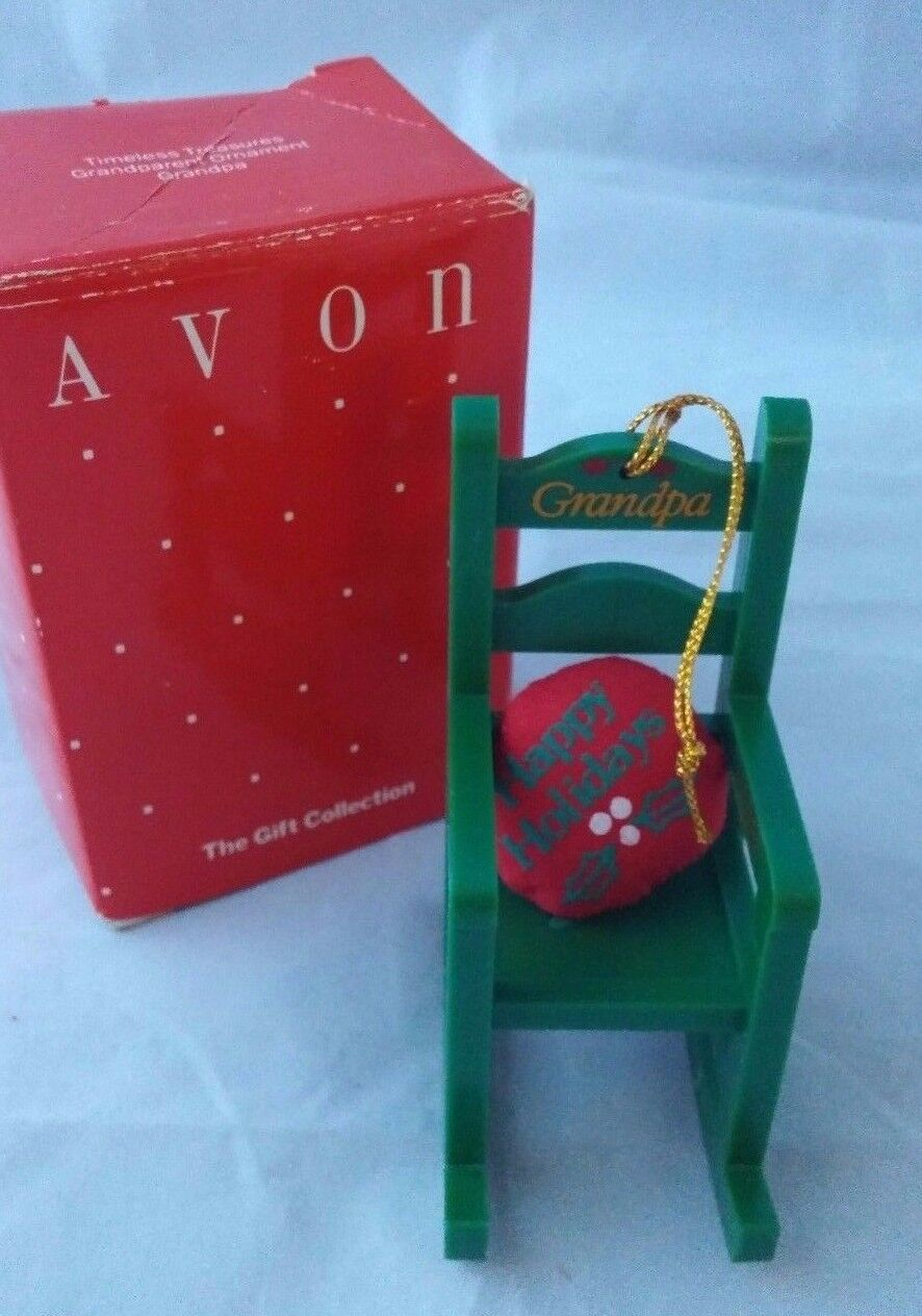 Avon Christmas Decoration Timeless Treasures Grandparents Grandpa Ornament image 2
