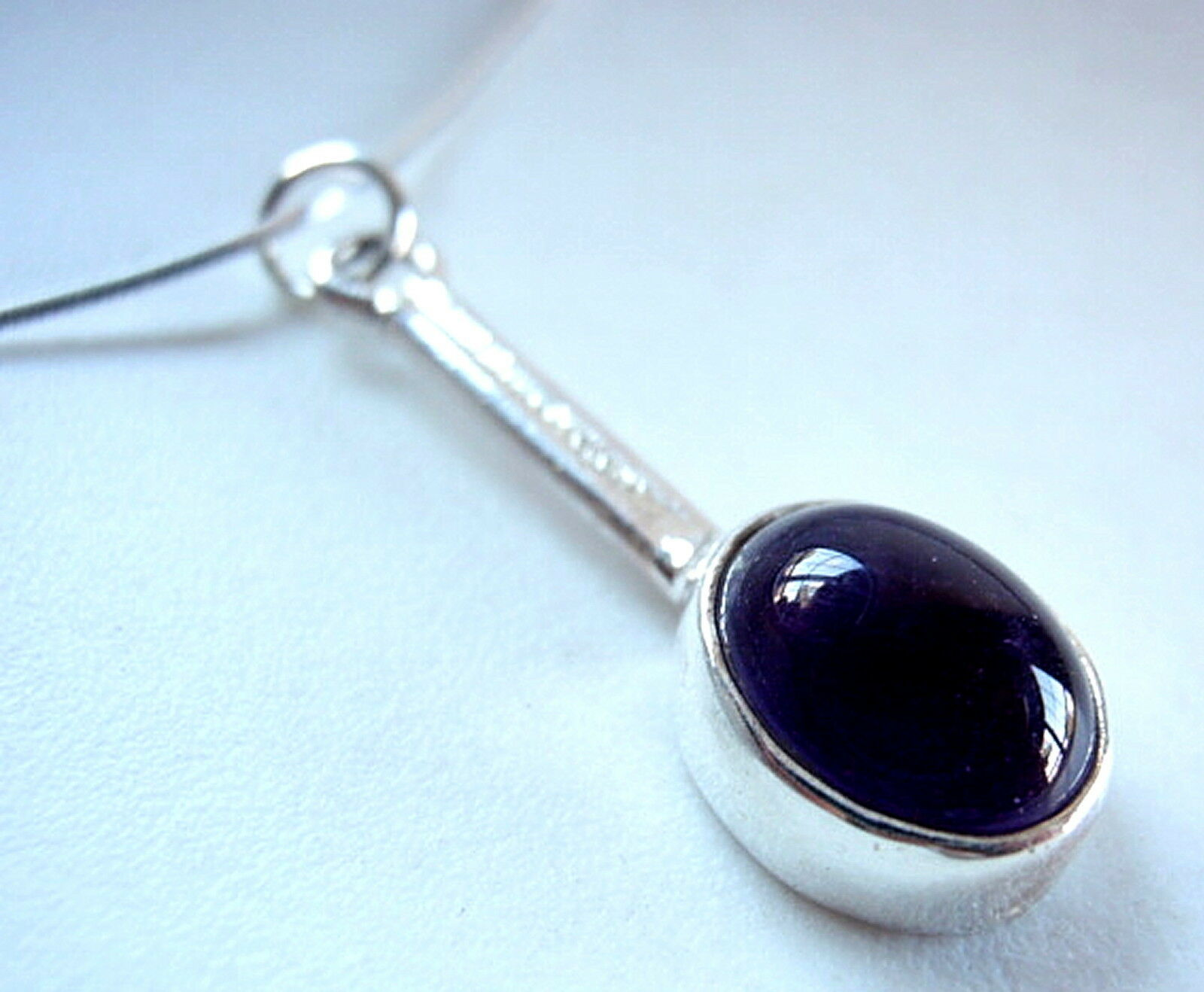 Primary image for Purple Amethyst Oval 925 Sterling Silver Necklace Corona Sun Jewelry