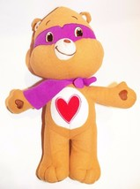 "Tender Heart Care Bear Plush 13"" Wearing Cape Mask Super Hero Stuffed Animal Toy - $14.80"