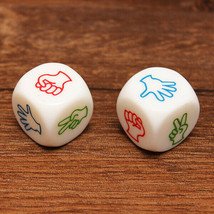 ~NEW~ 2PCS Finger-guessing Game Dice Rock-Paper-Scissors Game Toys - $5.69