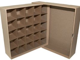 Guardhouse Coin Tube Storage Box, Heavy Duty - Large Dollar/Tan image 3