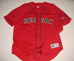 Boston Red Sox #18 MLB AL East Russell Athletic Red Blue Scripted Jersey... - $59.39