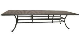 Elisabeth cast aluminum 12pc outdoor patio dining set with rectangular table image 2