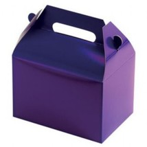 PURPLE Party Supplies BOXES Birthday Decoration GABLE Loots x12 Goody Ba... - $12.82