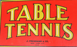 Vintage Table Tennis Game Never Played J. Pressman 1950's  image 2