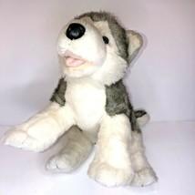 "Build A Bear BAB Siberian Husky Gray Wolf Dog Plush Stuffed Toy 18""He Barks! EUC - $15.85"