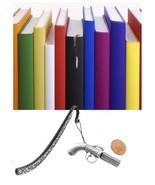 Pepper Box Pistol Pewter Emblem Pattern bookmark for books organisers codeL - $12.69