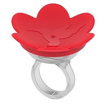 ZUMMR Hummingbird Ring Feeder Red Hand Feed Dishwasher Safe Free Shippin... - $6.13