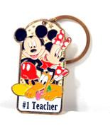 Walt Disney World Keychain - Number 1 Teacher - Mickey Mouse, Minnie, Pluto - $9.99