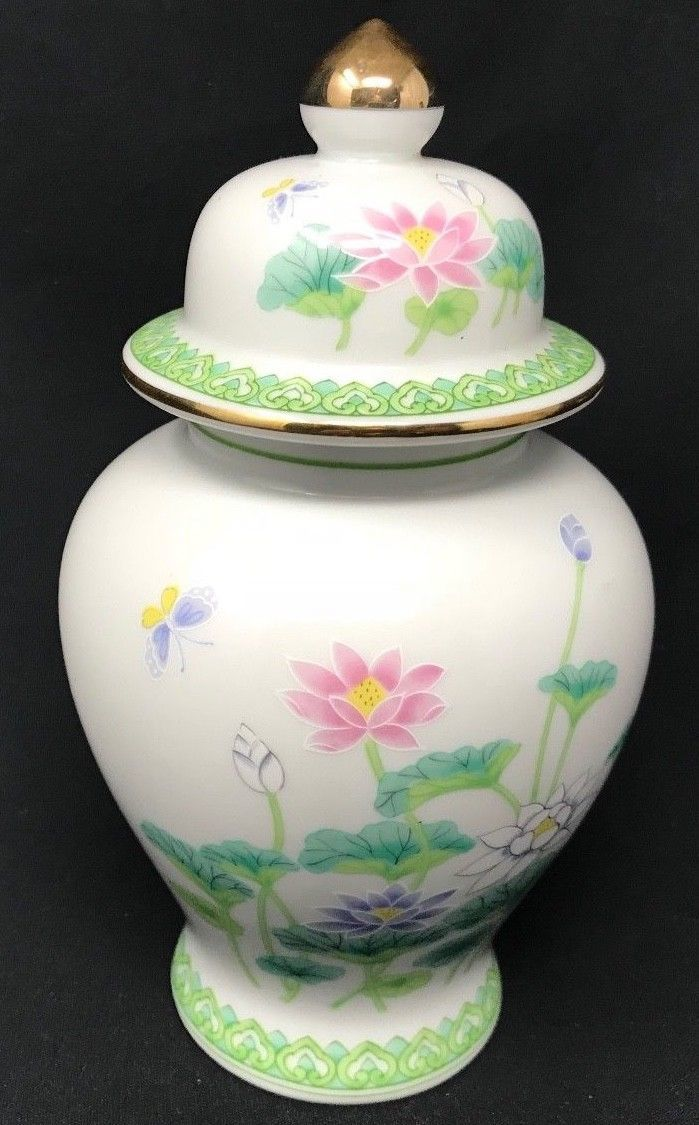 Vintage Japanese Porcelain Ginger Jar Urn And 50 Similar Items