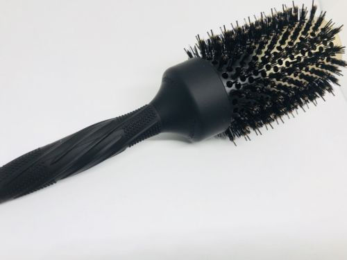 Baasha Large Round Brush with Boar Bristle 3.3 inch, Round Barrel Comb, Nano