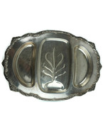 Vintage Silver Plate Heritage Rogers 9457 Ornate Footed Serving Tray 22.... - $121.52