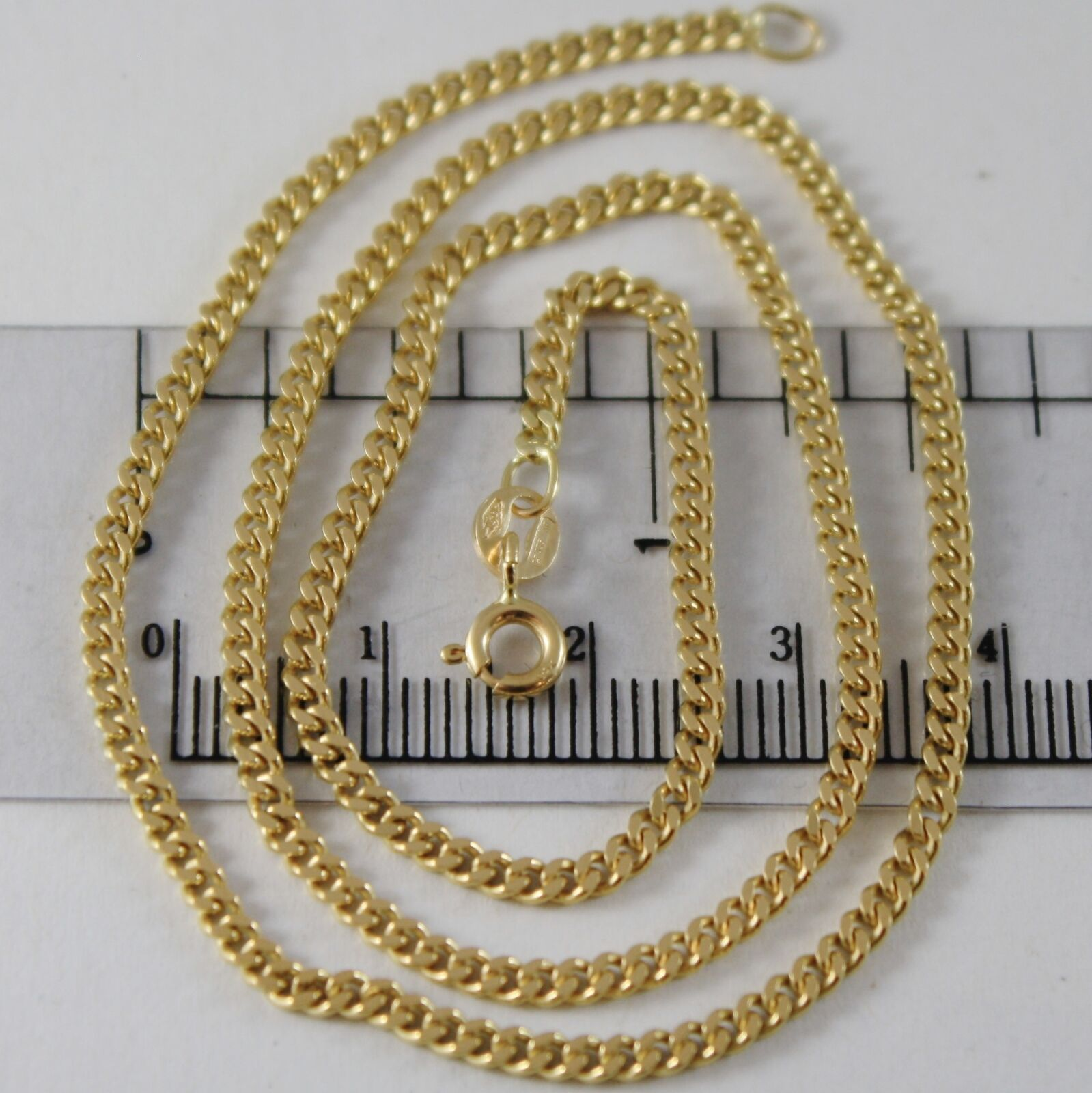 18K YELLOW GOLD CHAIN LITTLE GOURMETTE LINK 2 MM, 19.70 INCHES MADE IN ITALY