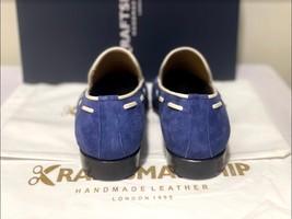Handmade Men's Blue Suede Slip Ons Loafer Dress/Formal Shoes image 6