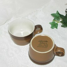MIKASA POTTERS ART BUCKSKIN 2 COFFEE CUPS BROWN MUGS BEN SEIBEL PF012 CU... - $14.99