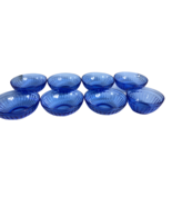 "8 Vintage Hazel Atlas Cobalt Blue Aurora Bowls.1935 Art Deco 7-5 1/2"" & 1-4 1/2  - $113.84"