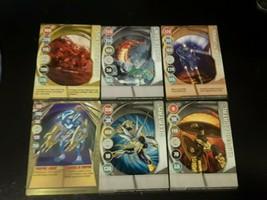 6 Bakugan Metal # stamped cards- Dark Tunnel- Deep Tan- Baxter Sea + 3  ... - $16.40