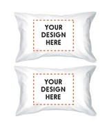 Custom Personalized White Pillowcases - $30.99