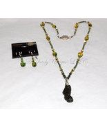 Moldavite Memories - Moldavite Necklace and Earrings - $416.00