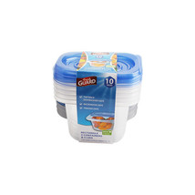 Fresh Guard Blue 10 Piece 450 ML Rectangle Storage Containers - $5.89