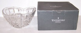 """STUNNING SIGNED WATERFORD CRYSTAL SWEETHEART HEART SHAPED 6 1/4"""" BOWL IN... - $49.49"""