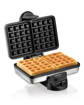 2 Slice Belgian Style Non Stick Waffle Maker Stainless Steeled with Ligh... - €36,46 EUR
