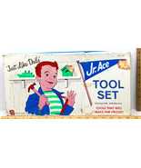 "Vintage 1964 Jr. Ace Tool Set Metal ""Just Like Dad's"" Model #75 New York... - $37.39"