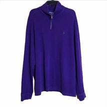 Polo Ralph Lauren Mens XXL Sweater Purple 1/4 Quarter Zip Pullover Mock ... - $38.54