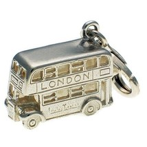British Welded Bliss Sterling 925 Silver Clip Charm, Routemaster London Bus - $19.74