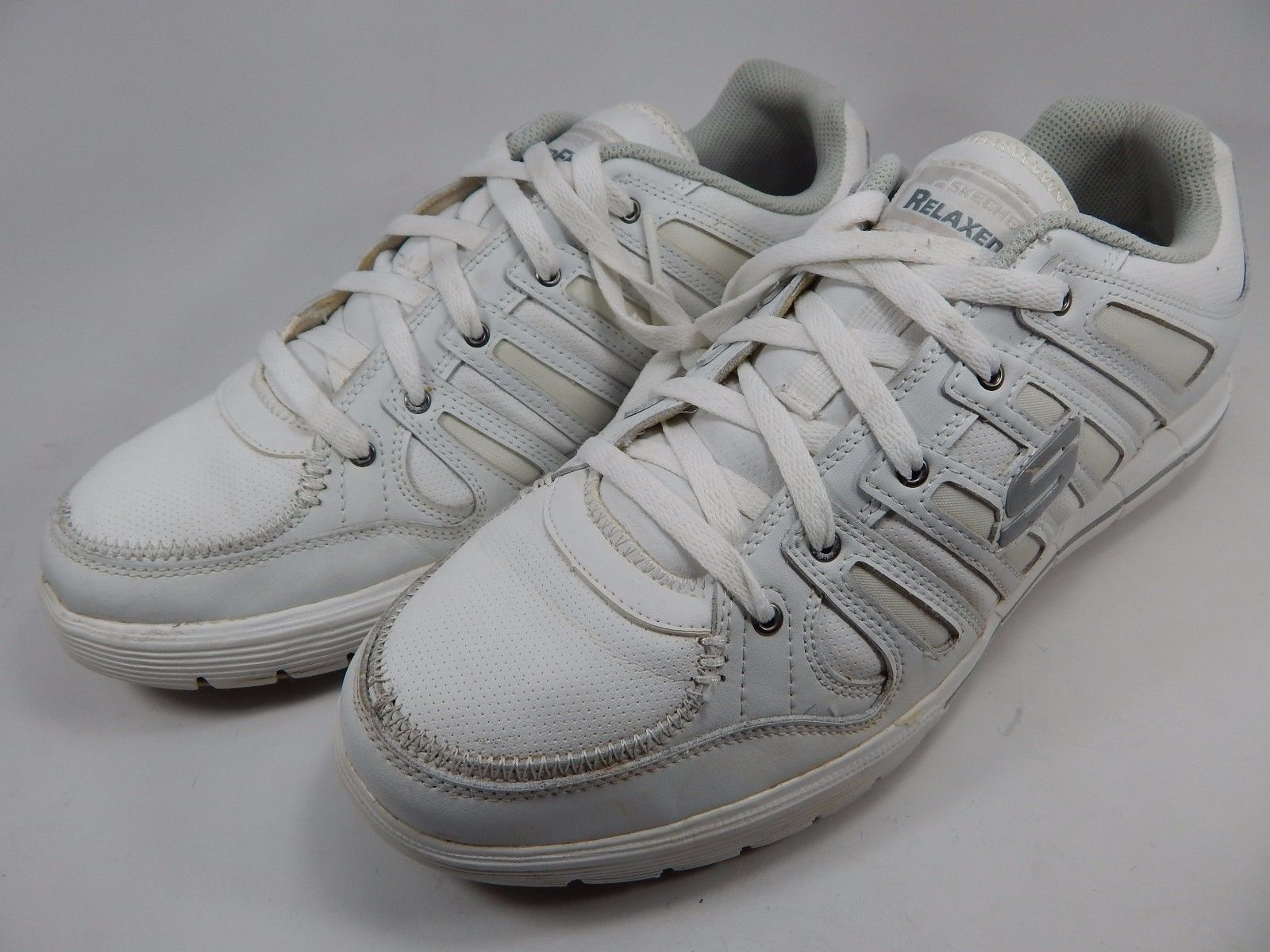 Skechers Relaxed Fit Arcade II Men's Casual Shoes Sz US 13 M (D) EU 47.5 White