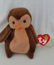 Ty Beanie Babies Hoot Owl No Star On Tush Tag, Pvc Pellets Style # Rare Errors R - $39.99