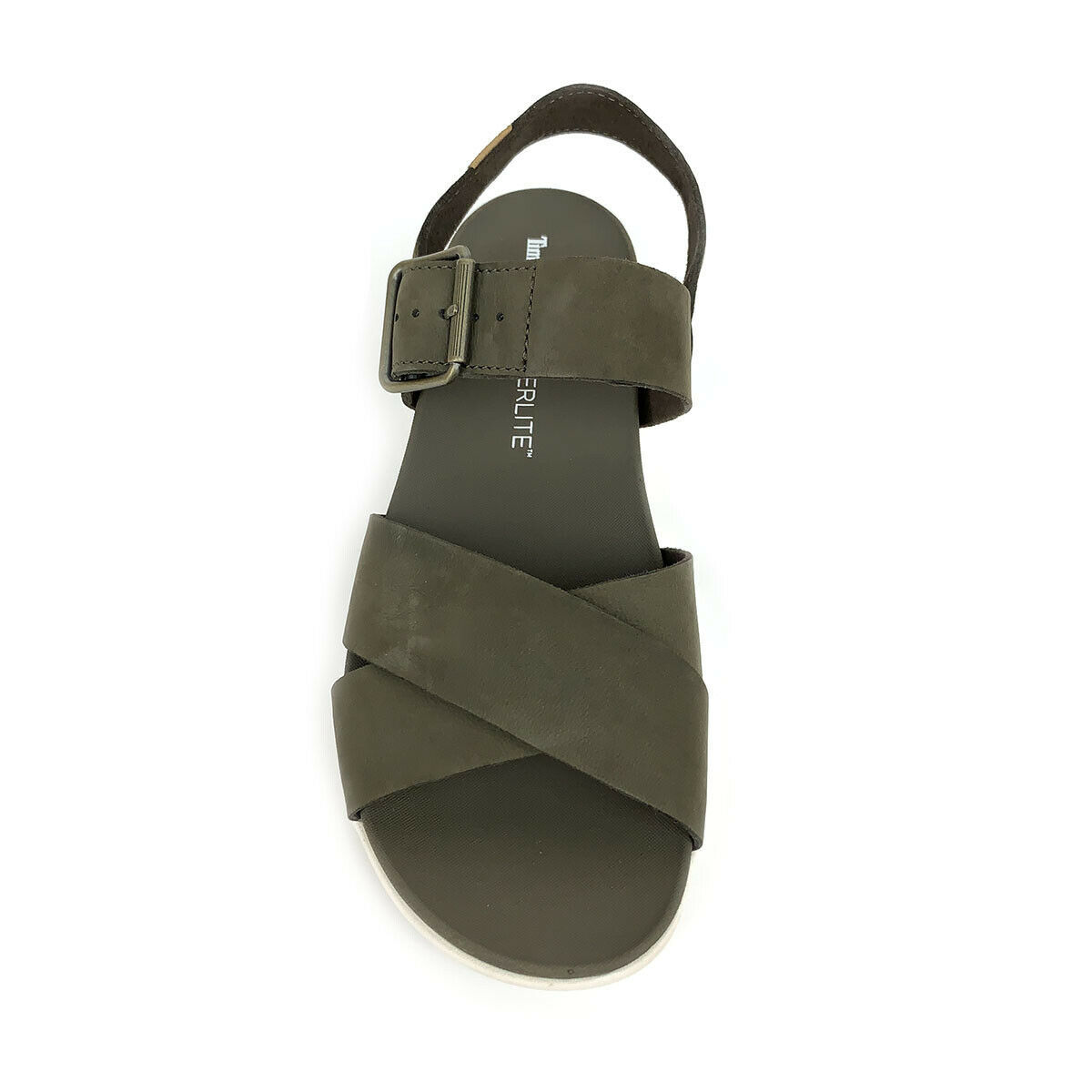 Timberland Women's Wilesport Olive Green Leather Strap Sandals A1TSW image 5