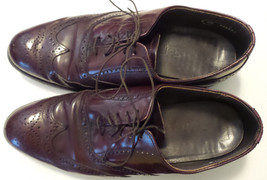DEXTER Oxford Reddish Brown Wingtip Lace Up Leather Soles Mens Size 9 WW... - $27.69