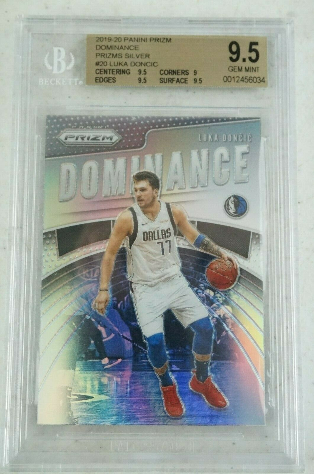 Primary image for 2019-20 Panini Prizm Silver Luka Doncic Dominance #20 BGS 9.5 Gem Mint