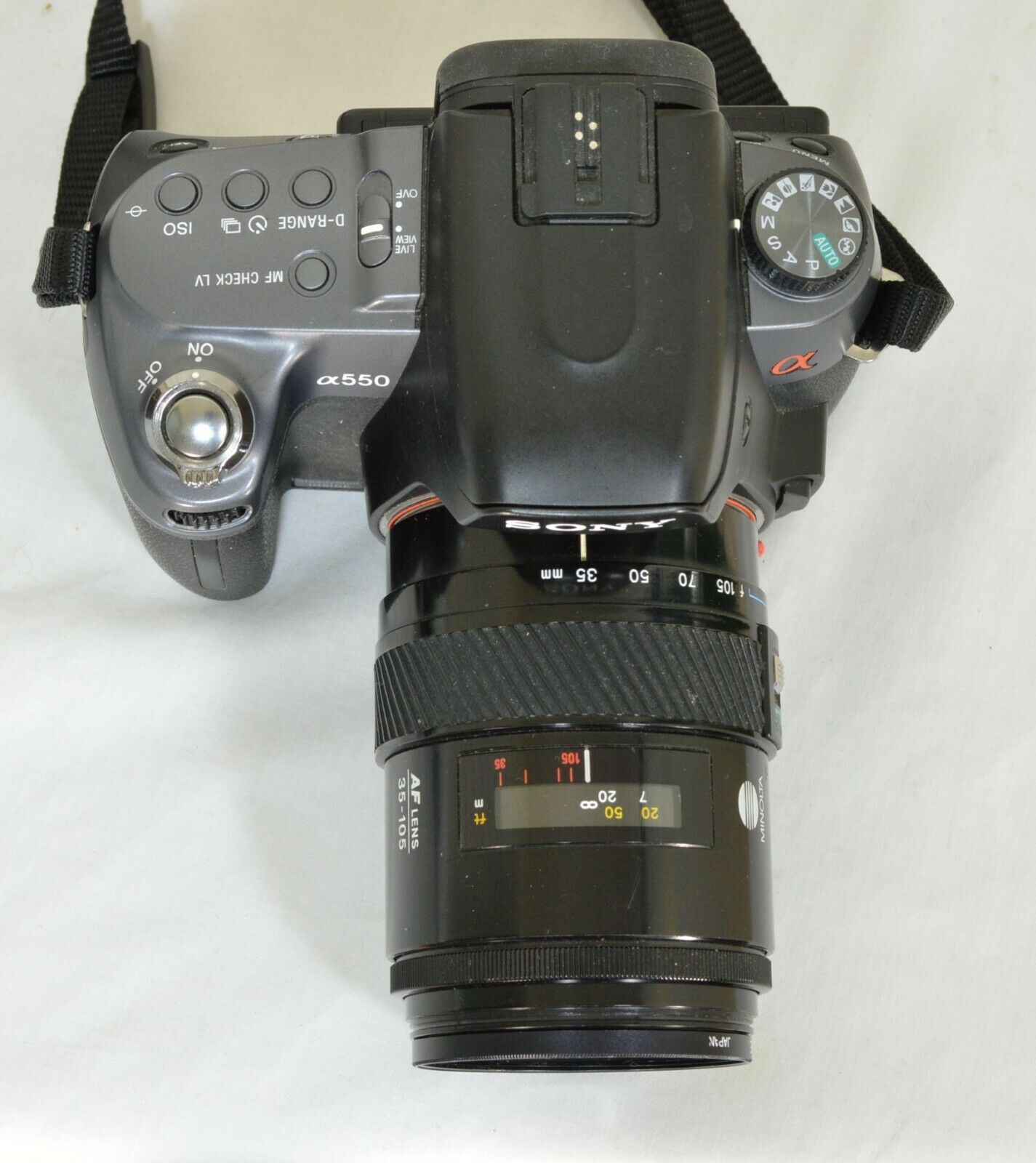 Sony Alpha DSLR-A550 14.2MP DSLR Camera Minolta Maxxum 35-105mm f/3.5-4.5 AF Len image 3