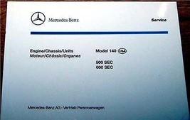 1992 1995 Mercedes 500 600 SEC Owners Parts Book - $55.00