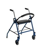 Drive Medical Two Wheeled Walker With Seat Red - $50.86
