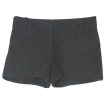 Ann Taylor Loft Shorts Lace Women Size 2 Black Floral Cotton Nylon - $12.86