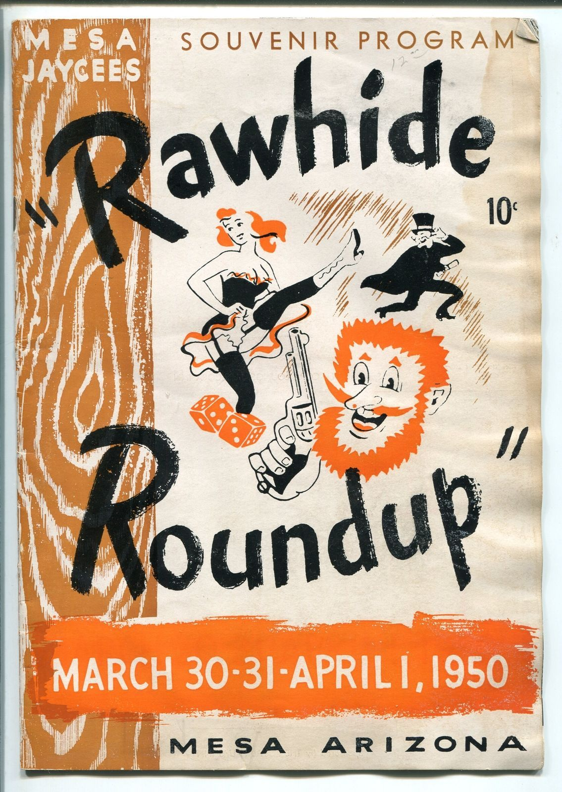 Primary image for RAWHIDE ROUNDUP PROGRAM-MESA ARIZONA-03/1950-JOHN WAYNE-good