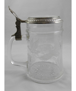 Vintage W. Germany Etched Glass Beer Stein Wild Boar and Geese Design wi... - $15.99