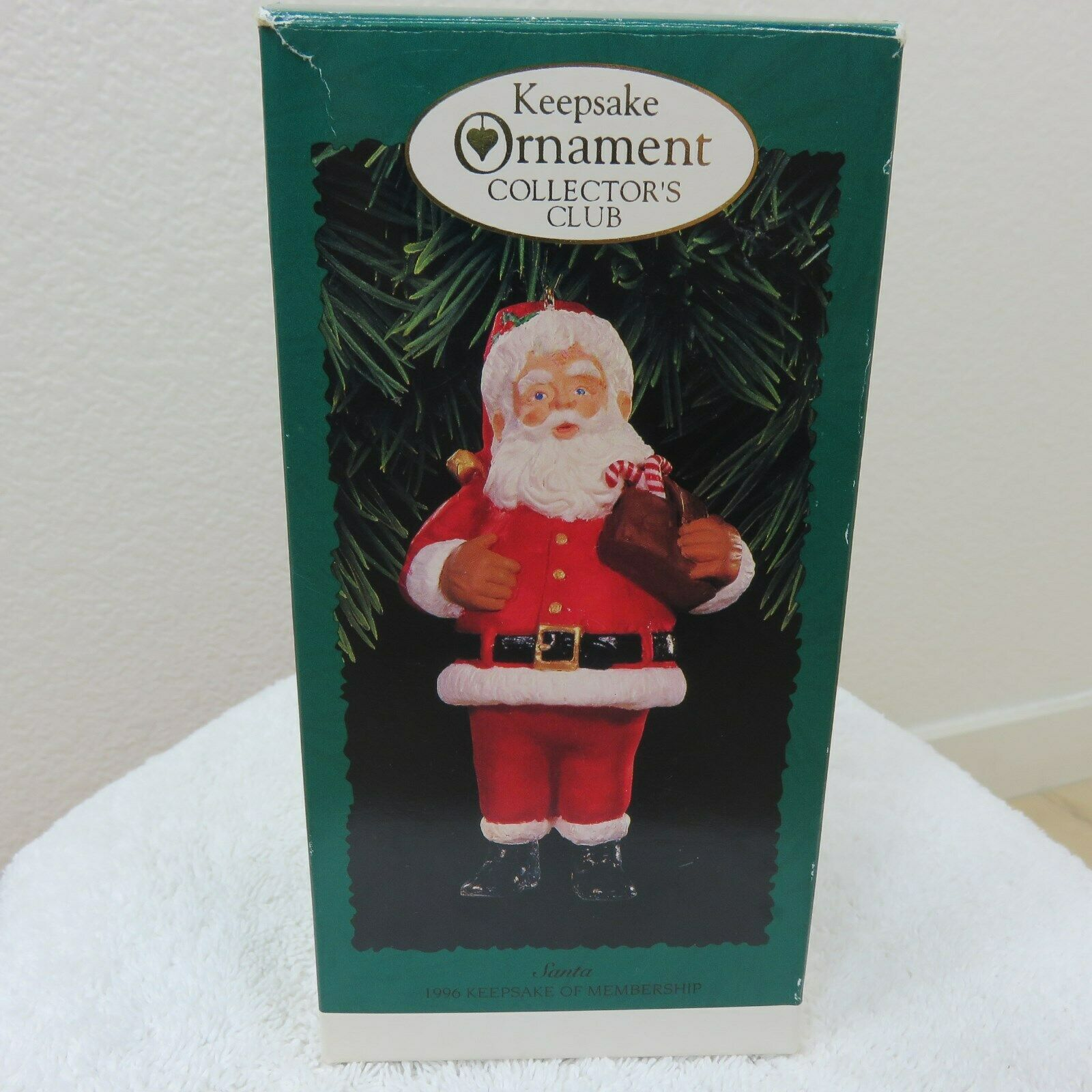 Vintage 1996 Hallmark Keepsake Ornament Santa in Original Box image 4