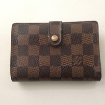 Louis Vuitton Damier EbenLadies Viennois Kisslock Wallet 5.5inx4in(CA1015) - $237.45