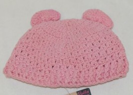 Ruffle Butts Pink Ear Hat With Flower Cotton 6 To 12 Months image 2