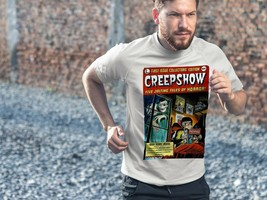 Creepshow Dri Fit graphic T-shirt moisture wicking retro 80s movie SPF tee image 3
