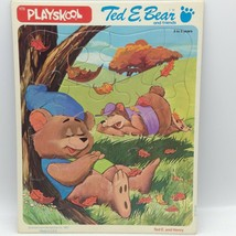 Vintage 1983 Playskool TED E BEAR and FRIENDS Henry Frame Tray Puzzle No... - $14.55