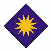 US Army 40th Infantry Division 4'' Sticker Sunshine Division Airborne In... - $9.89