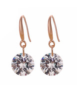 Fashion Gold color White Crystals Zircon CZ Drop Dangle Earrings - $9.99