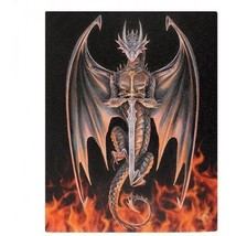 "Nemesis Now:  Dragon Warrior Canvas on Wood Frame by Anne Stokes 10"" x 8"" - €12,02 EUR"