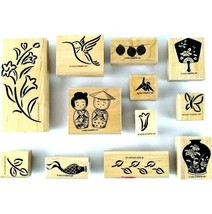 Lot of 12 Stampin Up  Rubber Stamps 2000-2002 Aisa Floral Border Art Wood - $19.99
